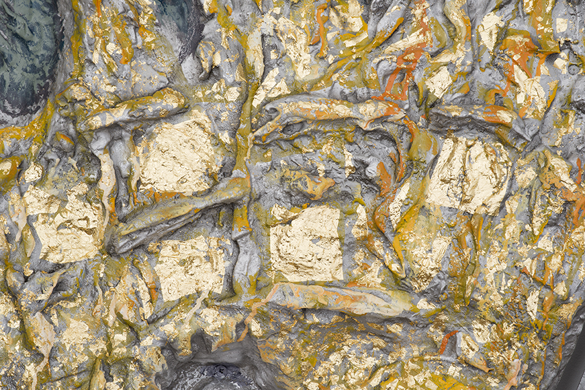 Detail The Sun 2016 Aluminium Gold Leaf Acrylic Paint 106 1 2 X 98 6 Inches 270 250 15 Cm